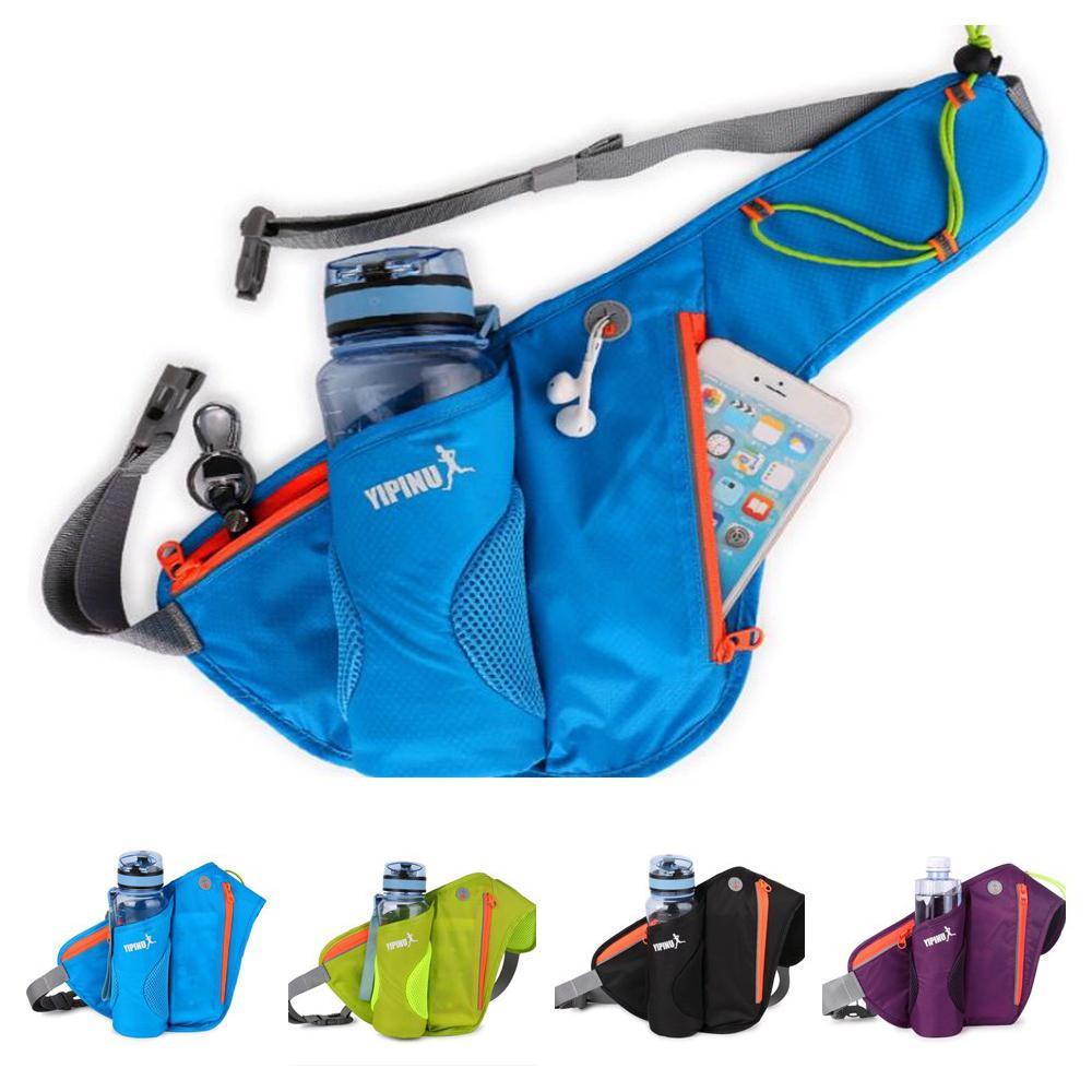 Mounchain Unisex 10L Sports Bag Running Mobile Phone Waist Bag Nylon Outdoor Cycling Waterproof Kettle Running Bag No Bottle