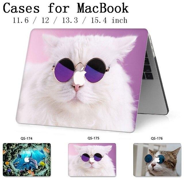 ل حقيبة لاب توب للمحمول ماك بوك 13.3 15.4 بوصة ل حالة ماك بوك اير برو الشبكية 11 12 مع واقي للشاشة لوحة المفاتيح كوف