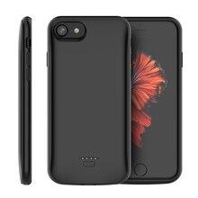 아이폰 7 8 5 SE 5 S 배터리 충전기 케이스 4000mAh 백업 전원 은행 충전 커버 아이폰 X 6 6s 11 프로 최대 배터리 케이스