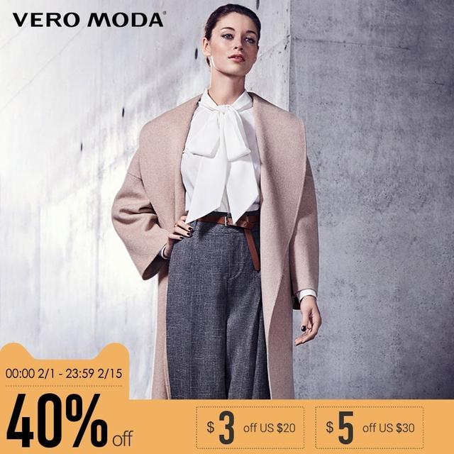 Vero Moda Brand Long wool overcoat windbreaker jacket woman |315427009