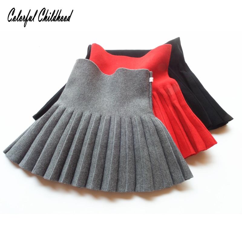 Röcke Winter Röcke Für Mädchen Mode Schule Mädchen Plissee Röcke Baby Kind Hohe Taille Tutu Röcke Kinder Ballkleid Kleidung 2-7yrs Schnelle Farbe