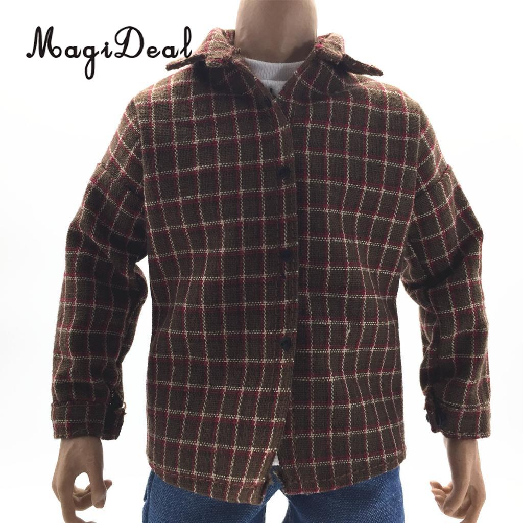 1:6 PU Leather Male Jacket Coat and Boot Clothes for 12/'/' Action Figure DIY