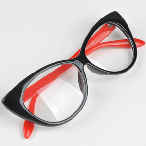 New Cute Lovely Cat Eye Glasses Frame Women Fashion Glasses Female Eyewear Accessories oculos de sol feminino #H1018