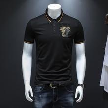 Camisa Polo Verão 2019 Homens Sólidos Polo Homme Simples do Negócio  Desgaste Formal de Manga Curta Camisa Polo Dos Homens Slim F.. cfcdeb1196eba