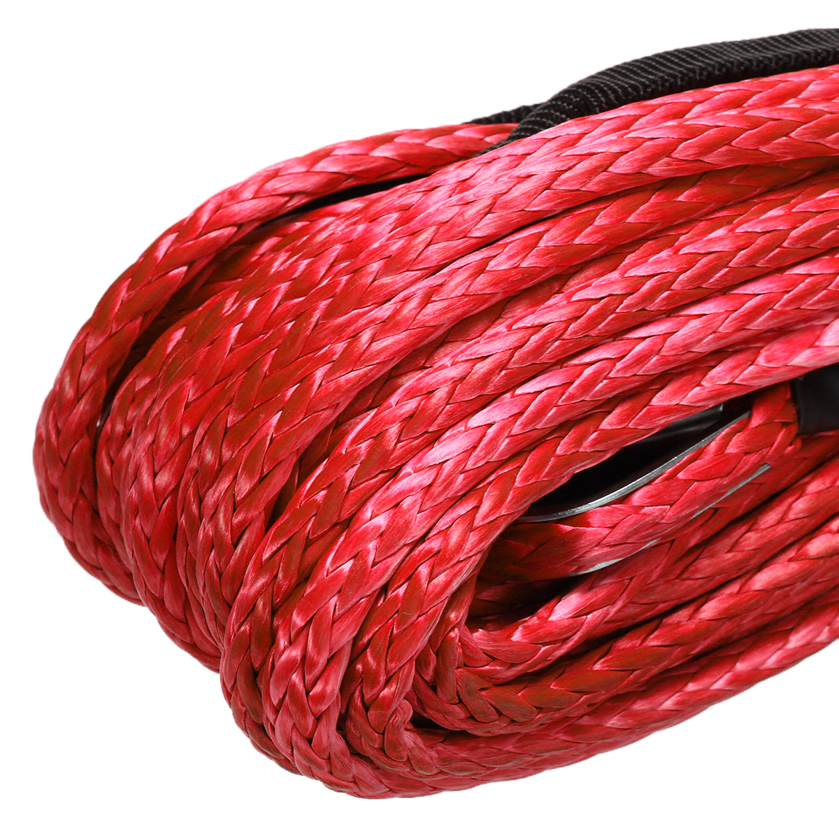 Image 3 - 1/4'' x 50' 7000lbs Synthetic Winch Rope Cable Line  Car Wash Maintenance String for ATV UTV Off Road Red-in Towing Ropes from Automobiles & Motorcycles