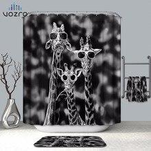 VOZRO Shower Curtain Of Natural Quality Waterproof Halloween 3d Alternative Simple Splatoon Black Humor Douchegordijn