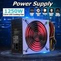 Макс 1250 Вт PC источник питания 12 см светодиодный вентилятор 24 Pin PCI SATA ATX AMD PFC 12V компьютерный игровой блок питания для ПК рабочего стола