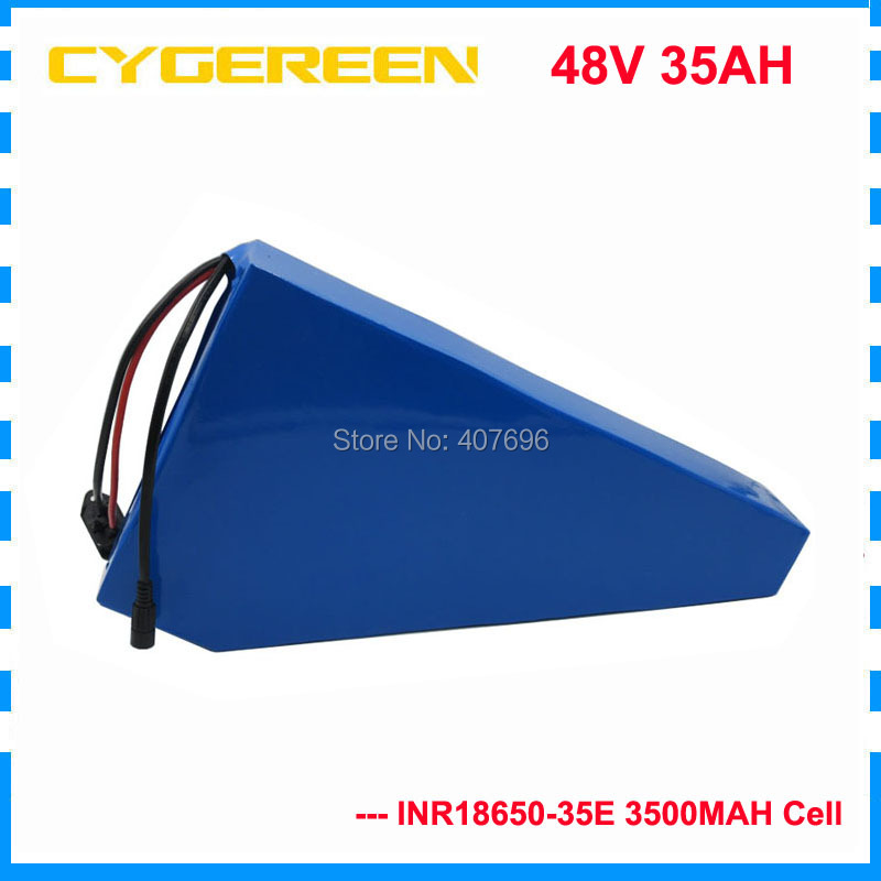 2000W 48V 35AH triangle battery 48V lithium Electric bike battery 35AH with Free bag use samsung 3500mah cell 50A BMS 2A Charger2000W 48V 35AH triangle battery 48V lithium Electric bike battery 35AH with Free bag use samsung 3500mah cell 50A BMS 2A Charger