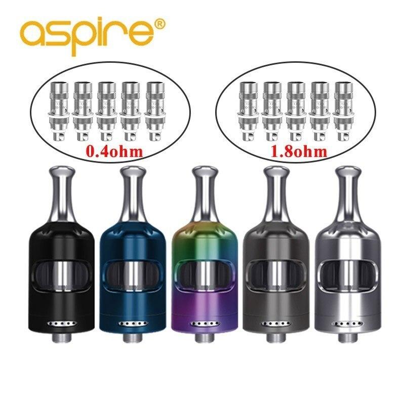 En Stock Aspire Nautilus 2 s réservoir 2.6 ml capacité avec Nautilus 0.4ohm/1.8ohm BVC bobines Vape vaporisateur atomiseur PK nautilus 2 réservoir