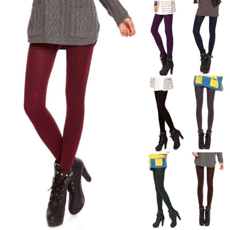 4318e2a1c797b5 Winter Spring Women Leggings Nine Pants Seamless Brushed Stretch Soft Fleece  Lined Thick Legging High Elastic