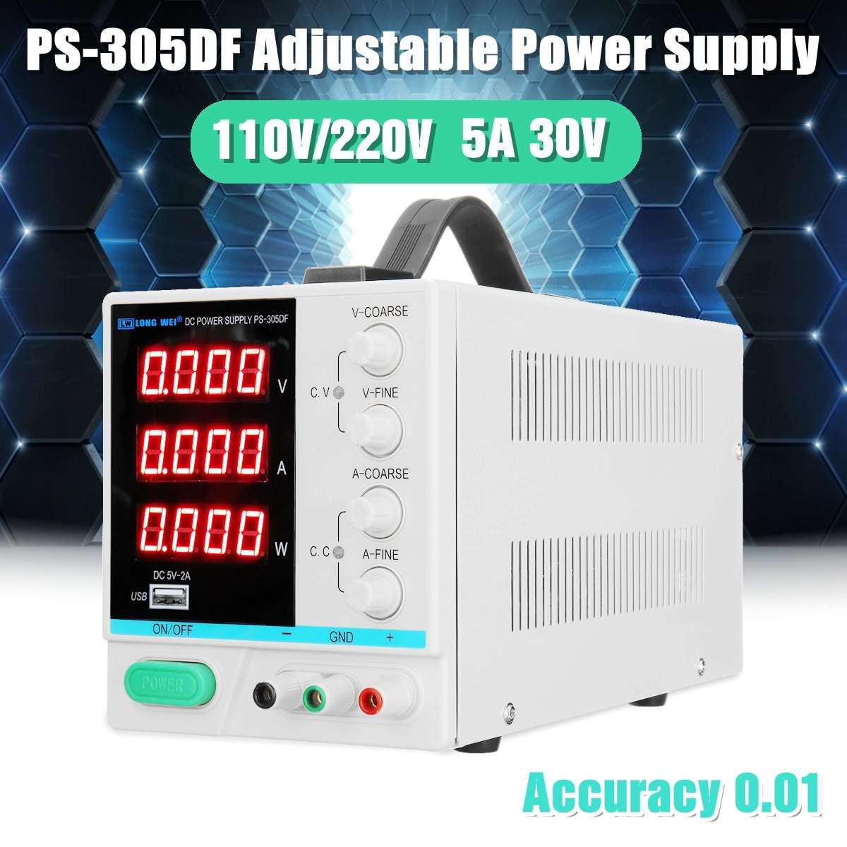 2019 New 5A 30V 110V/220V LED DC Power Supply Adjustable Precision Variable Digital Lab Voltage Regulators