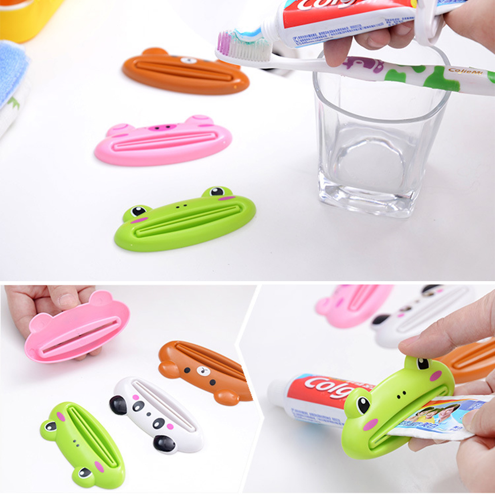 1pc Home Cute Animal Tube Squeezer Toothpaste Squeezer Tube Cartoon Toothpaste Dispenser Rolling Holder Bathroom Commodity