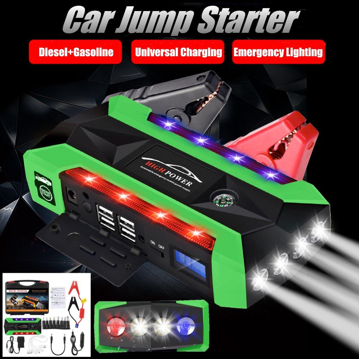 US/UK/AU/UE Multi-Fonction Portable D'urgence Chargeur de Batterie De Voiture Jump Starter 4 Lampe USB 89800 mah Puissance Banque Dispositif de Démarrage