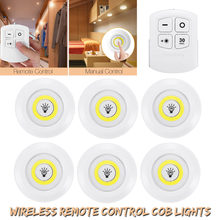 6PCS LED Wireless Remote Control Touch Light Night ligh Wall lamp Under Cabinet Kitchen Wardrobe Bathroom Hallway Staircase COB(China)