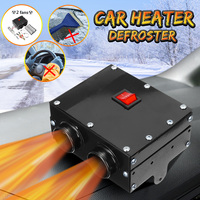 Audew 12V 600w Hole Car Heater Tungsten Heater 2 Air Outlet 2 Cooling Fan 80C Used for Defrost Demist Deicing Instant Heating