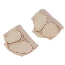 1 пара ног протектор переднего отдела стопы лапы с закрытым носком и на нижнее белье обувь балетное платье для танцев и гимнастики, латиноамериканских комплект обуви спереди