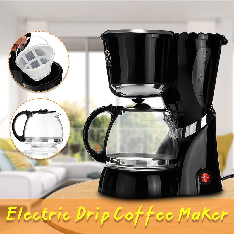 600ML Drip Coffee Maker Machine Electric Black Hourglass Make Cafe Tea Multifunctional 220-240V 550W  Americano Coffee Machine600ML Drip Coffee Maker Machine Electric Black Hourglass Make Cafe Tea Multifunctional 220-240V 550W  Americano Coffee Machine