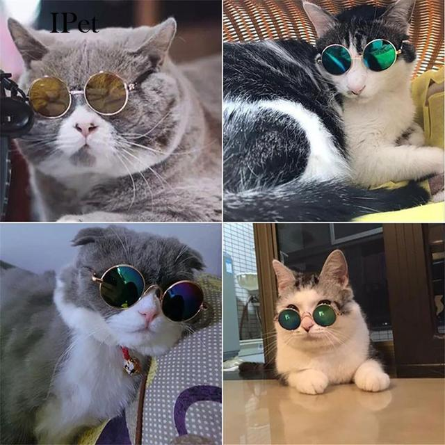 Hot Sale 5 Colors Cute Pet Sunglasses Round Shape Dog Cat Fashion Cool Styling Eye Protection Pet Accessories Supplies Products