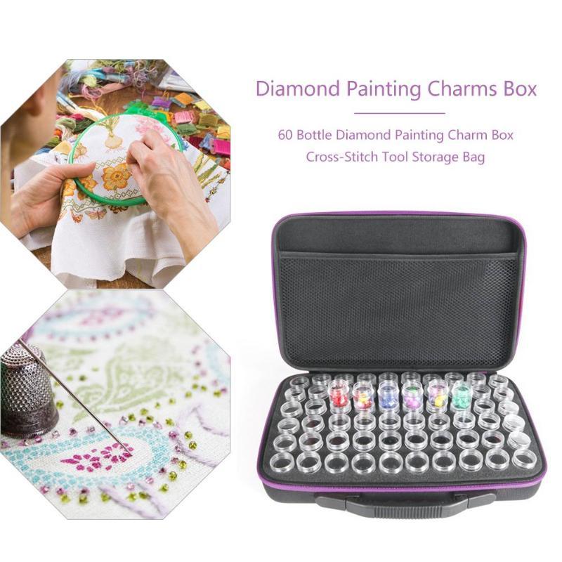 EID MUBARAK 60 Bottles Diamond Painting Charms Box Cross-Stitch Tool Storage Case Bag Painting Supplies Art Sets Dropshipping