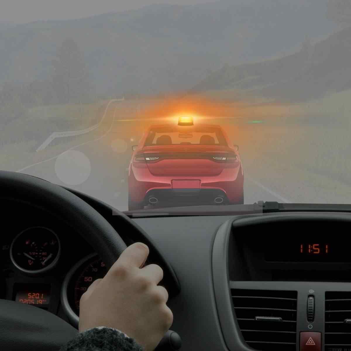 Baliza luminosa Universal LED intermitente luz de advertencia coche autobús camión luces de emergencia estroboscópicas magnéticas techo lámpara de advertencia