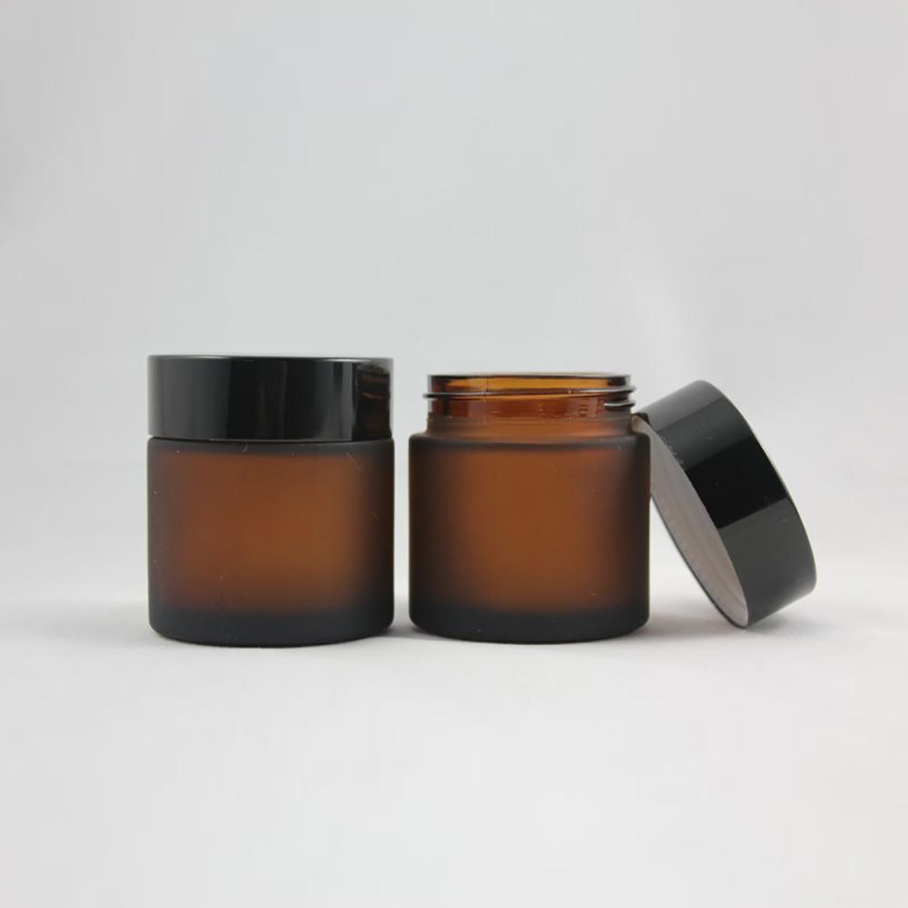 pecas de alta qualidade 50 50g fosco e marrom boiao de creme 50g frasco de vidro