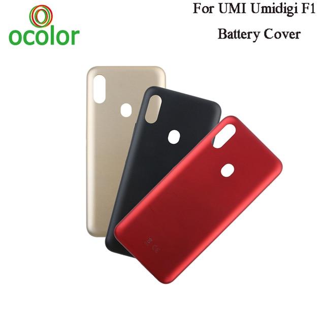 ocolor For UMI Umidigi F1 Battery Cover 6.3 Hard Bateria Protective Back Cover Replacement For UMI Umidigi F1 Play Phone Cover