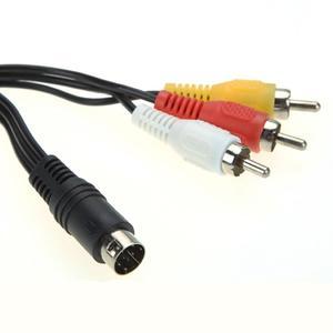 Image 5 - 1.8M Retro Bit AV RCA Audio Video Cho Sega Genesis 2 3 II III Kết Nối Dây 3RCA đến 9 Pin Niken Mạ Cắm Game Cáp