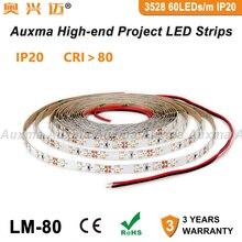3528 60LEDs/m LED Strip,CRI80 RA80 IP20,DC12V/24V 4.8W/m 5m,300LEDs/Reel,Non-waterproof for indoor living room bedroom Studyroom