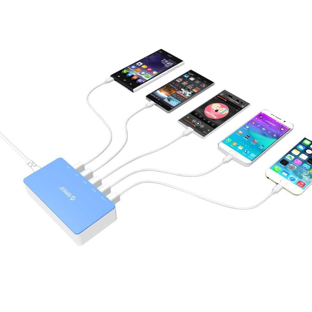 ORICO 5 ميناء شاحن لسطح المكتب شاحن سفر للهاتف المحمول USB سريع الذكية شاحن للهاتف الذكي سامسونج فون اللوحي