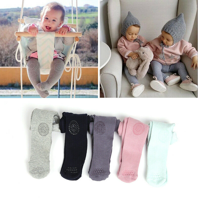 Hot Cute Baby Cotton Tights Infant Girl Toddler Newborn Kids Warm Pantyhose Soft Elastic Pants Pink&Blue Hot