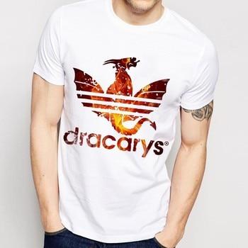 Daenerys Dragon Dracarys funny t shirt men summer new white Vintage GOT unisex casual t-shirt homme Harajuku