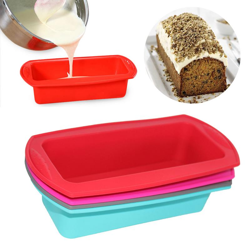 Easter Family Kitchen Rectangular Silicone Mold Baking Tools Toast Candy Mold Baking Tool DIY Kitchen Supplies Cake Making