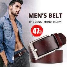 dfeb6724cbe HOMENS CINTO para calças de brim do Homem Simples retro vintage pin fivela  masculina cinto de