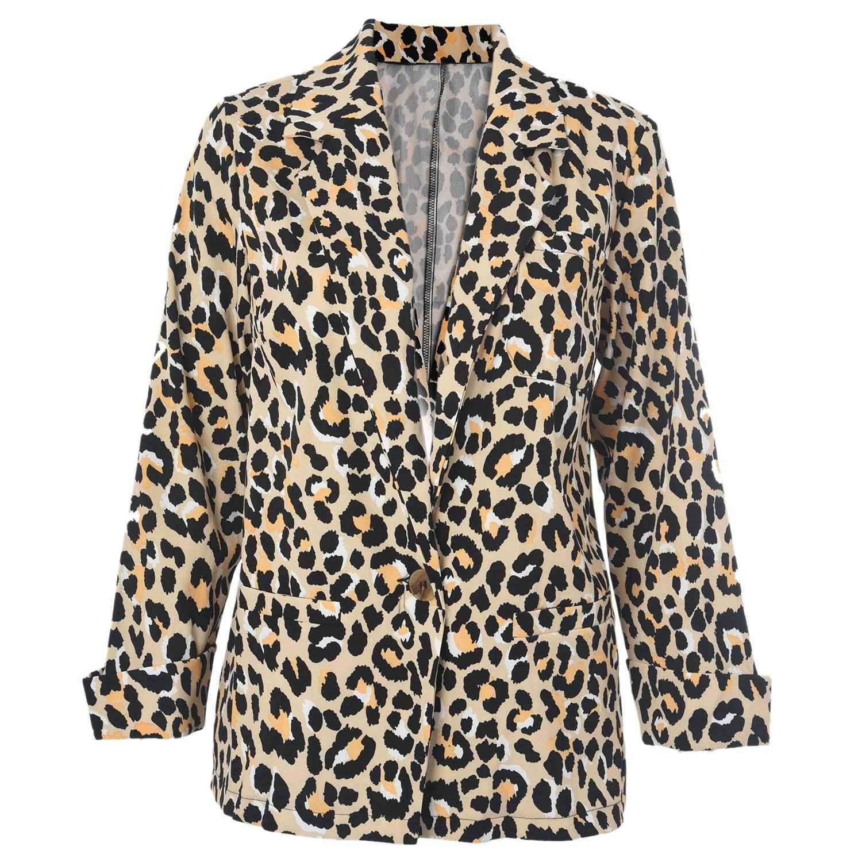 Women Fashion Leopard Print Blazer Coat Cardigan Ladies Casual Trench Coats Jacket Outwear Tops Plus SizeWomen Fashion Leopard Print Blazer Coat Cardigan Ladies Casual Trench Coats Jacket Outwear Tops Plus Size