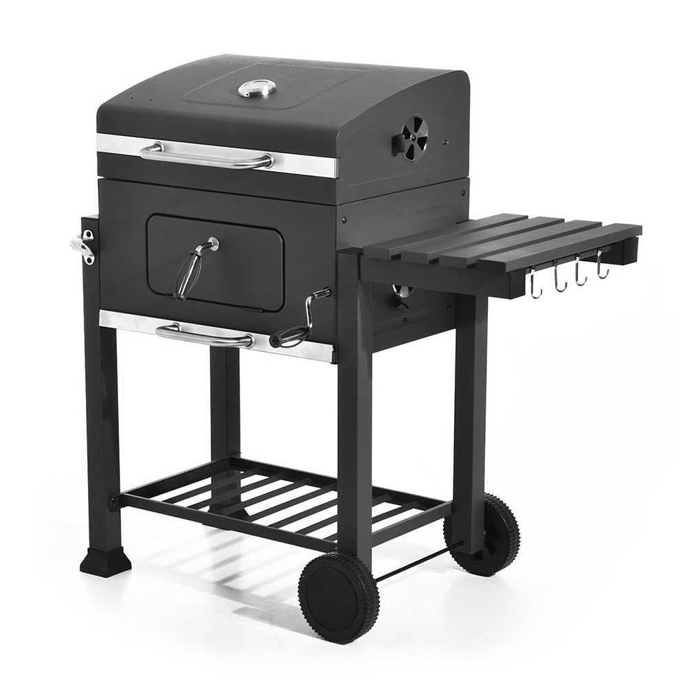 Складной напольная плита для барбекю с полой ручкой печь для готовки на углях принадлежности для шашлыков гриль нержавеющая сталь Температура Датчик