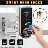 Electronic Smart Door Lock 3 in1 Password Mechanical ID Card Digital Door Lock Home Security & Protection + 6x ID Card