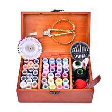 39 Color Sewing Set Needle Storage Box Kit Accessories High Quality Wooden Vintage Wood Quick Delivery
