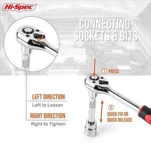 Image 5 - Hi Spec 12pc 1/4 Socket Wrench Set Tools Ratchet Universal Key Torque Wrench Set 1/4  Hex Socket Set 4 14mm Deep Socket Adapter