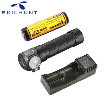 Skilhunt H03F Led Lampe Frontale CREE XML-2 U4 LED 1200Lm HeadLamp Hunting Fishing including battery and charger
