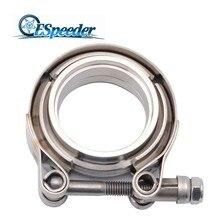 ESPEEDER 2/2. 25/2. 5/3/3,5 дюймовый v-ленточный зажим Нержавеющая сталь v-ленточный фланец комплект для выхлопной трубы труба выхлопную трубу, Системы