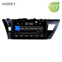 Harfey Android 7,1 10,1 GPS автомобильный радиоприёмник головное устройство для 2014 2013 2015 Toyota Corolla мультимедийный плеер Поддержка Wi Fi DVR Carplay