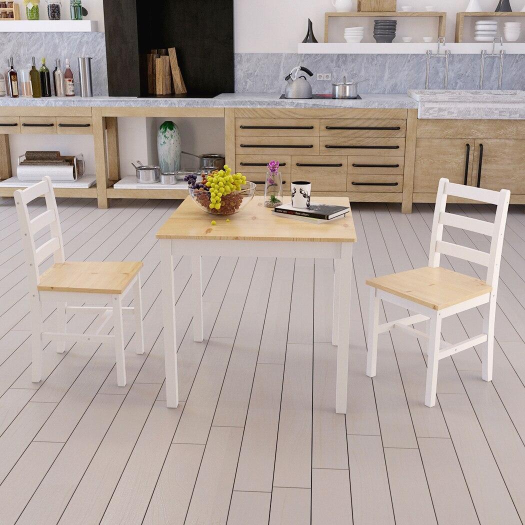 Panana обеденный кухонный стол и набор из 2 стульев из массива сосны дети едят продуктовый Прилавок/Детская игрушка короткие настольные стулья