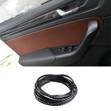 Для Audi A4 A6 BMW VW Golf Mazda Honda интерьерные молдинги 5 м Дверная панель край центр управления защита приборной панели полосы наклейки