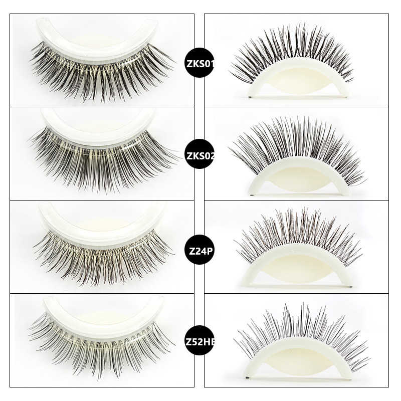 159a545a65b ... 3D Mink Self Adhesive False Eyelashes Natural Long Fake Eyelashes Set  Wearing Without Glue Long Lasting ...