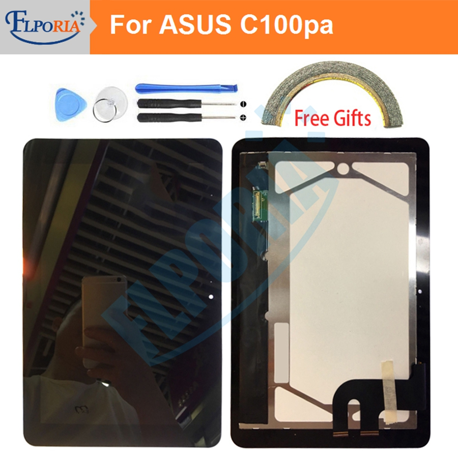 LCD Screen For Asus C100PA-DB02 Chromebook C100PA LCD Display Touch Screen Digitizer Replacement Parts 10.1LCD Screen For Asus C100PA-DB02 Chromebook C100PA LCD Display Touch Screen Digitizer Replacement Parts 10.1