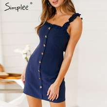 Simplee Sexy ruffle bodycon summer dress women 2019 Backless linen lace up plus size beach dress Holiday casual female vestidos