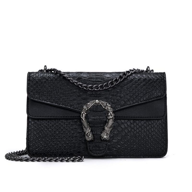 Luxury Handbags Women Bags Designer 2018 Alligator PU Leather Version Of Black Blue Gray Clutches Chains Ladies Crossbody Bags 5
