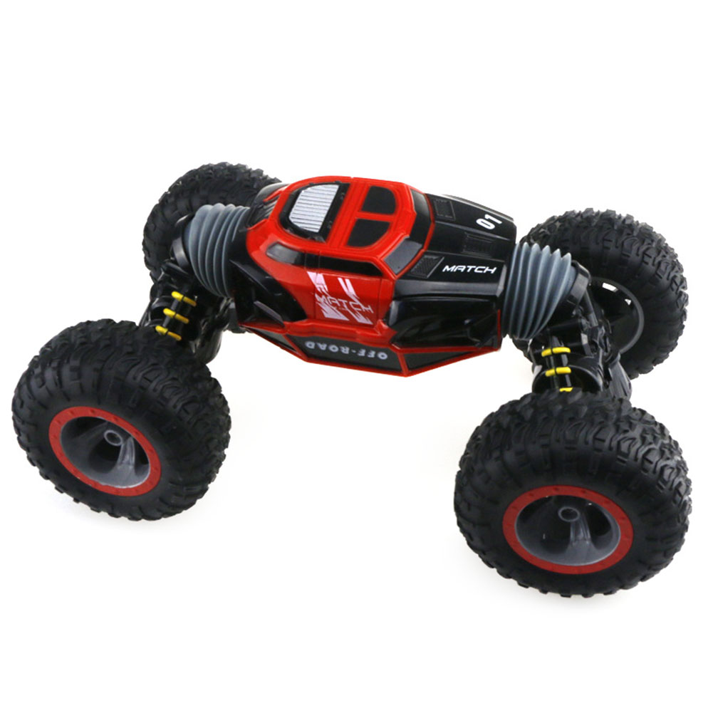 Truck 2.4G Four Wheel Drive Vehicle Crawler 4WD Double Sided Stunt Transform Climber Off-Road RC Car Toy Rechargeable