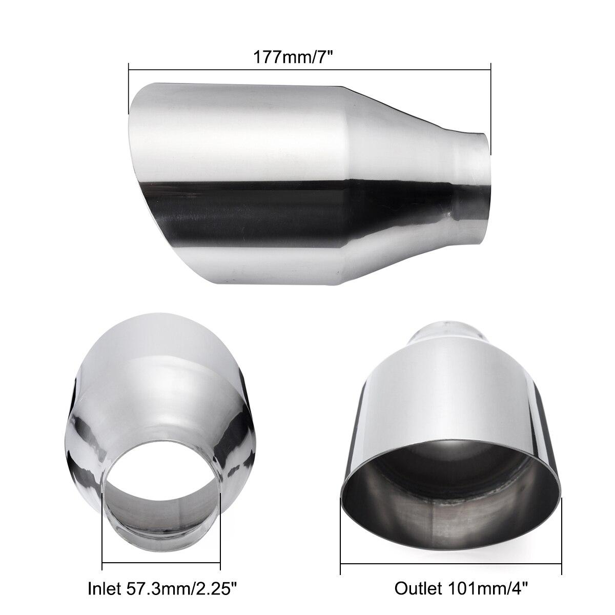 tubo de escape universal para carro tubo de escape silenciador de parede dupla e traseira 57mm