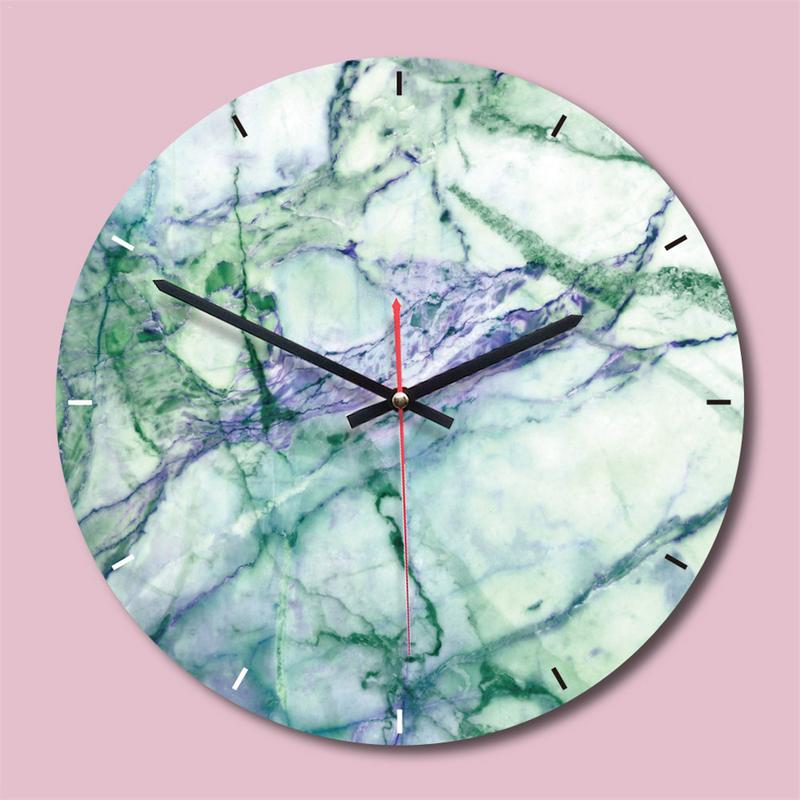 Wall Hanging Clock Nordic Marble Quartz Wall Clock Silent Wall Clocks For Bedroom Living Room Simple Modern Design Home Decor